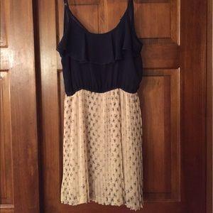 NWT Pleated Bow Dress